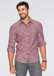 Flanell-Hemd Regular Fit, bpc bonprix collection, ahornrot meliert