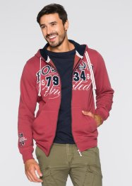 Sweatjacke mit Kapuze Regular Fit, bpc bonprix collection, hellrot