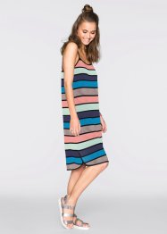 MUST HAVE: Shirtkleid, RAINBOW, blau/bunt gestreift