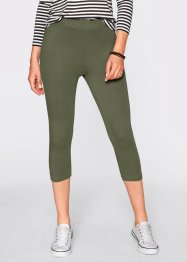 Stretch-Caprileggings, bpc bonprix collection, kieselbeige/schwarz