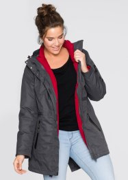 3 in 1 Funktions-Outdoorjacke, bpc bonprix collection, schiefergrau
