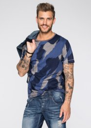 T-Shirt Slim Fit, RAINBOW, blau bedruckt