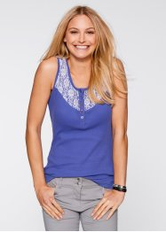 Top mit Spitze, bpc bonprix collection, lilablau