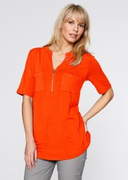 Halbarm-Shirt, bpc bonprix collection, blutorange