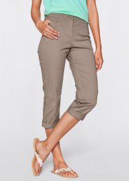 7/8 Figurformende Stretch-Hose, bpc bonprix collection, taupe