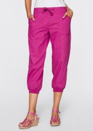 3/4-Leinenhose, bpc bonprix collection, mittelfuchsia