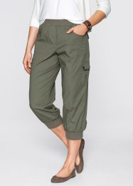 3/4-Cargohose mit Stretch, bpc bonprix collection, oliv