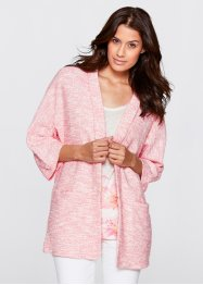 Shirt-Boucle-Blazer, Langarm, bpc bonprix collection, flamingopink meliert
