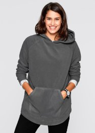 Fleece-Poncho-Pullover, bpc bonprix collection, rauchgrau