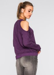 Pullover mit Cut-Outs, RAINBOW, weinbeere