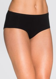 Panty (4er-Pack), bpc bonprix collection, schwarz/azurblau bedruckt