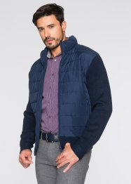 Outdoor-Strickblouson Regular Fit, bpc selection, dunkelblau
