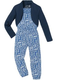 Jumpsuit + Bolero (2-tlg.), bpc bonprix collection, himmelblau/wollweiß bedruckt