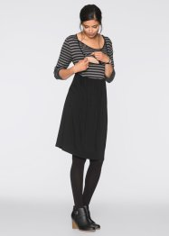Stillkleid /Umstandskleid, bpc bonprix collection, grau/schwarz gestreift