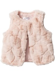 Fake Fur Weste, bpc bonprix collection, hellrosa
