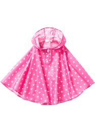 Regenponcho, bpc bonprix collection, flamingopink bedruckt