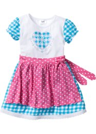Dirndlkleid (2-tlg. Set), bpc bonprix collection, flamingopink/karibikblau