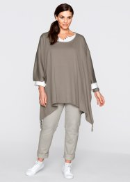 Poncho-Pullover mit Zipfel, bpc bonprix collection, taupe