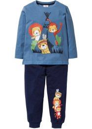 Pyjama (2-tlg. Set), bpc bonprix collection, indigo/dunkelblau