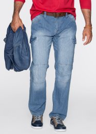 Jeans Loose Fit Straight, John Baner JEANSWEAR, mittelblau used