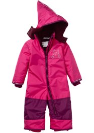 Baby Schneeoverall, bpc bonprix collection, dunkelpink/beere