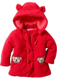 Baby Fleecejacke, bpc bonprix collection, rot/hellpink