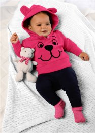 Baby Fleecepullover, bpc bonprix collection, dunkelpink