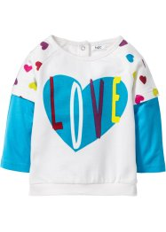 Baby Sweatshirt Bio-Baumwolle, bpc bonprix collection, wollweiß