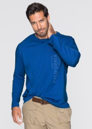 Langarmshirt Regular Fit, bpc bonprix collection, azurblau