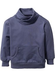 Sweatshirt mit weitem Kragen, bpc bonprix collection, indigo