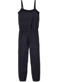 Jumpsuit mit Nieten, bpc bonprix collection, schwarz