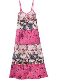 Kleid, bpc bonprix collection, flamingopink bedruckt