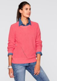 Langarm-Pullover, bpc bonprix collection, hellpink
