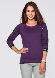 Basic Feinstrick-Pullover, bpc bonprix collection, weinbeere