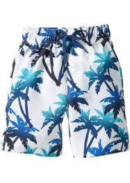 Badeshorts Jungen, bpc bonprix collection, blau/ weiß