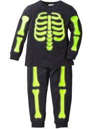 "Pyjama ""GLOW IN THE DARK"" (2-tlg. Set) Halloween, bpc bonprix collection, schwarz bedruckt"