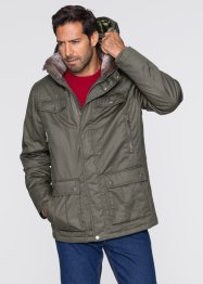 Winter-Langjacke Regular Fit, bpc bonprix collection, dunkeloliv