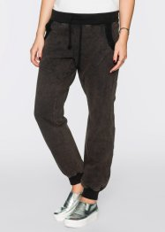 Sweat-Hose mit Pailetten, relaxed fit, RAINBOW, schwarz