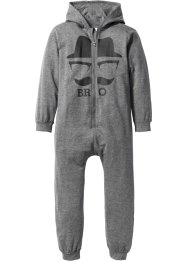 Sweatoverall mit Kapuze, bpc bonprix collection, grau meliert