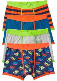 Boxershorts (4er-Pack), bpc bonprix collection, blau/grau/orange