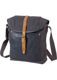 Herrentasche, bpc bonprix collection, graublau/braun