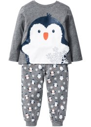 Pyjama (2-tlg. Set), bpc bonprix collection, grau meliert