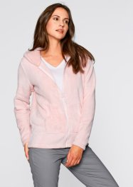 Basic Fleece-Jacke, bpc bonprix collection, perlrosa