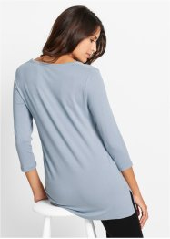 Shirt, bpc bonprix collection, silbergrau/metallic silber