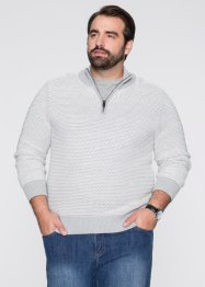 Troyer Pullover Regular Fit, bpc selection, hellgrau/natur