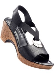 Ledersandale, bpc bonprix collection, schwarz