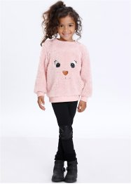 Teddyfell Pullover, bpc bonprix collection, zartrosa