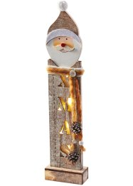 "LED-Deko ""Santa"", bpc living, grau"