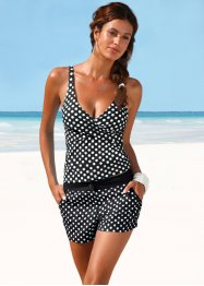 Tankini Oberteil, bpc bonprix collection, schwarz/weiss gepunktet