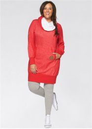 Sweatkleid, bpc bonprix collection, erdbeere meliert